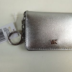 Michael Kors Leather Key Ring Money Pieces Wallet